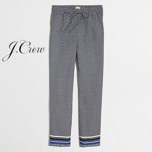 J. Crew Printed drapey drawstring pant - 12